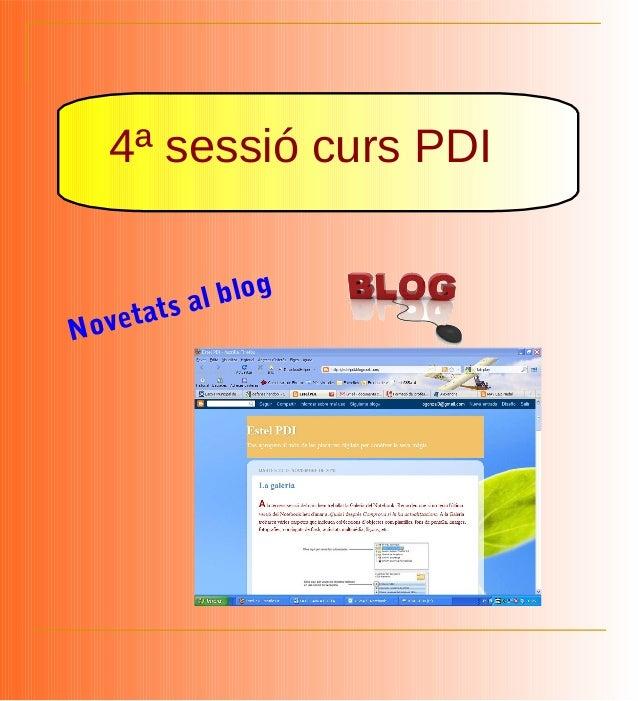 4ª sessió curs PDI Novetats al blog
