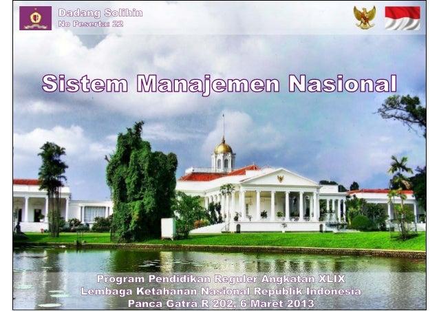 Sistem Manajemen Nasional