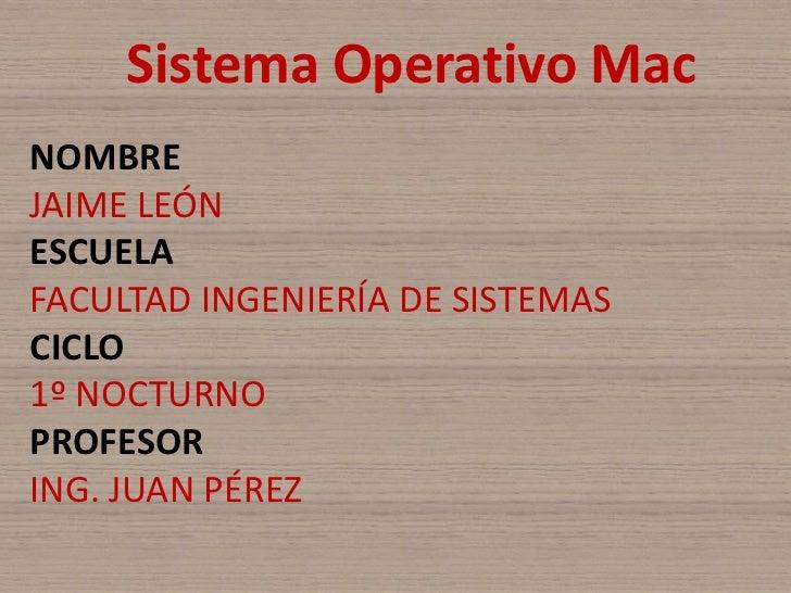4 sistemas operativos mac