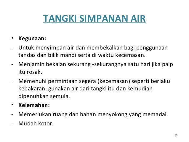 Bahagian Tangki Simpanan Air Tangki Simpanan Air•