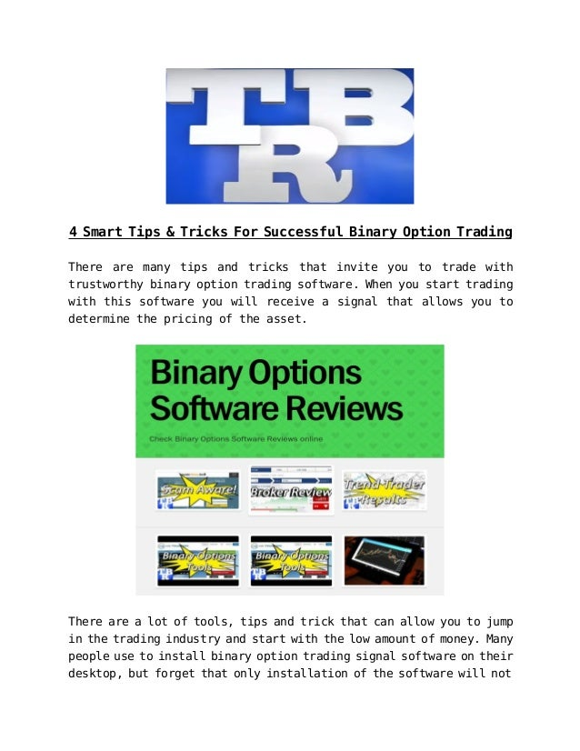 Binary option list