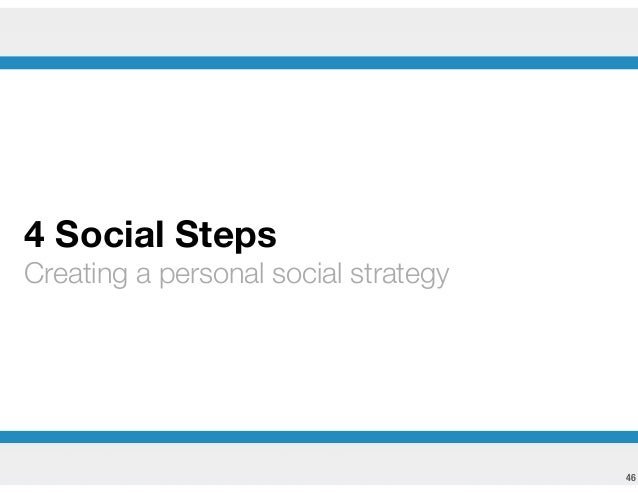 4 Steps to a Personal Social Media Strategy