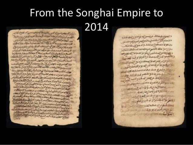 4 Songhai Empire to the 21st century Su2014