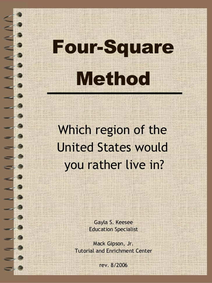 Four-Square Method Gayla S. Keesee Education Specialist Mack Gipson, Jr. Tutorial and Enrichment Center rev. 8/2006 Which ...