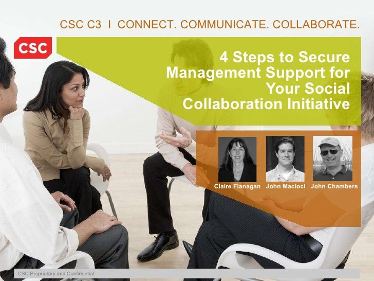 4 Steps to Secure Management Support for Your Social Collaboration Initiative CSC C3  I  CONNECT. COMMUNICATE. COLLABORATE...