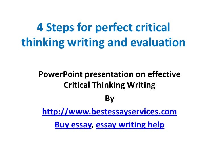 write critical evaluation essay