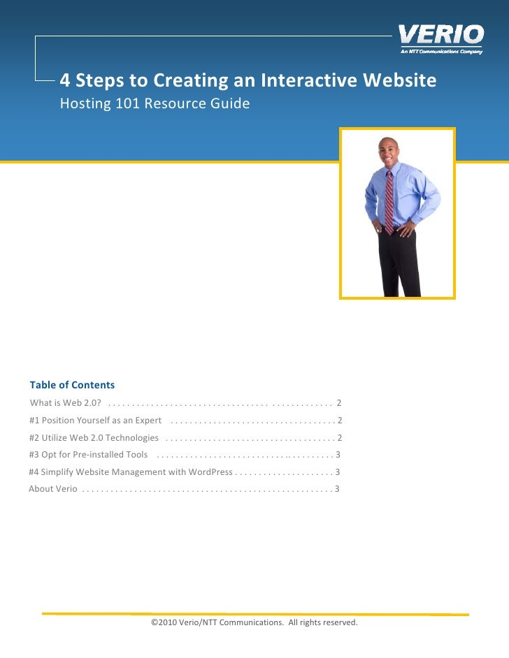 4 Steps To Creating An Interactive Website