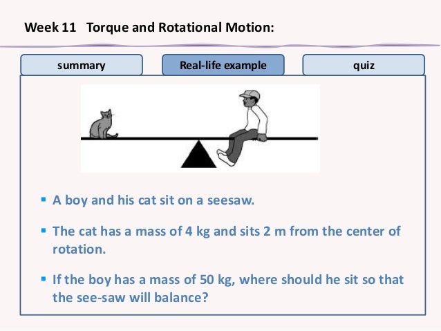 Examples of Rotation in Real Life Summary Real-life Example