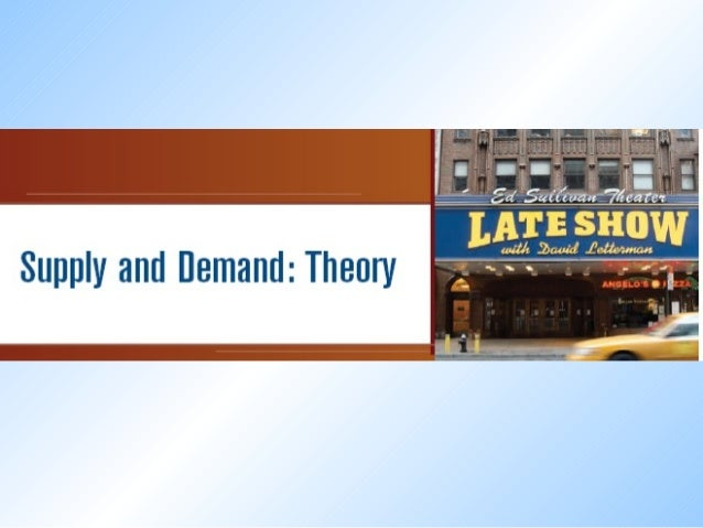 Theory of Supply Supply refers to the quantity of the commodity which the producer is willing to sell at a particular pric...