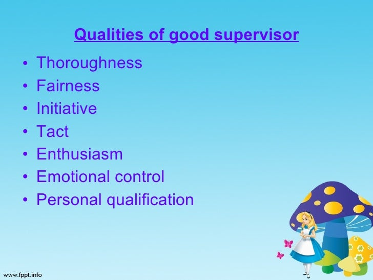 qualities good supervisor