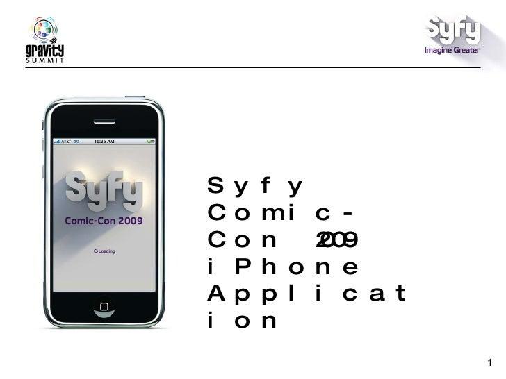 Syfy Comic Con App