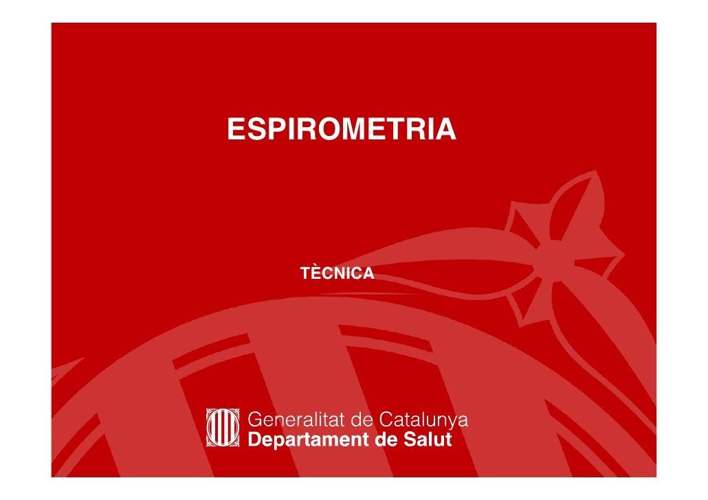4 Tècnica de l'espirometria