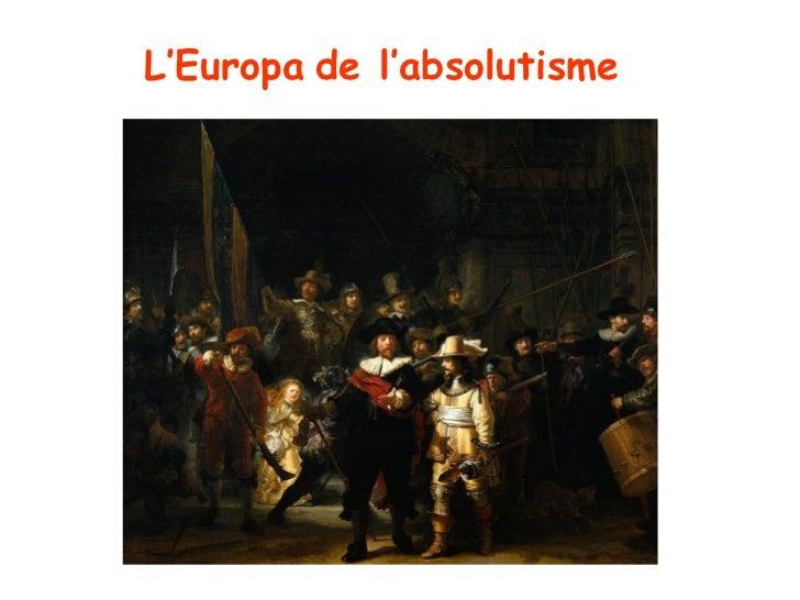 L'Europa de l'absolutisme