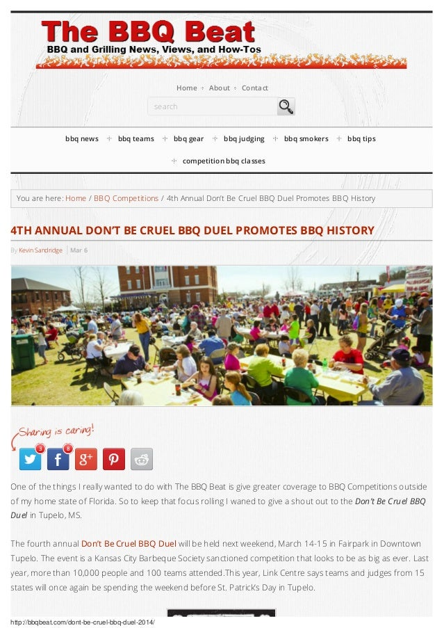 4th annual don't be cruel bbq duel promotes bbq history