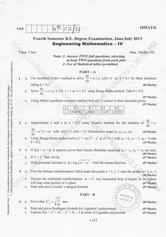 4th Semester CS / IS (2013-June) Question Papers