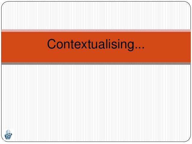 Contextualising...
