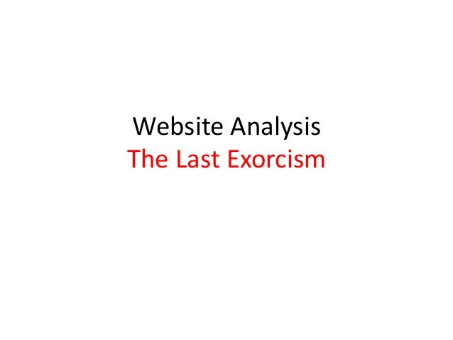 Website Analysis The Last Exorcism