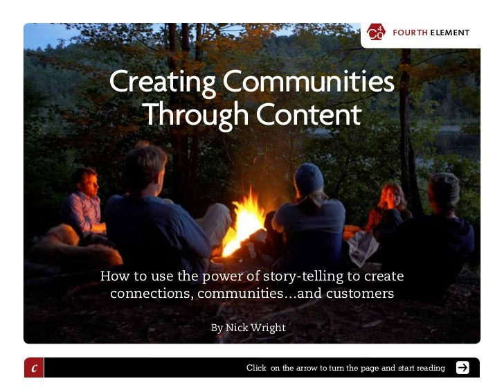Creating Communities Through Content – By Nick Wright