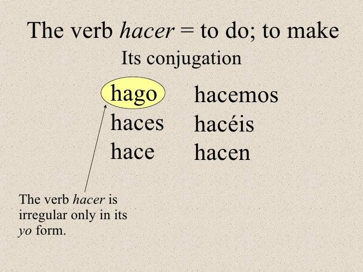 Hacer Conjugation Gallery