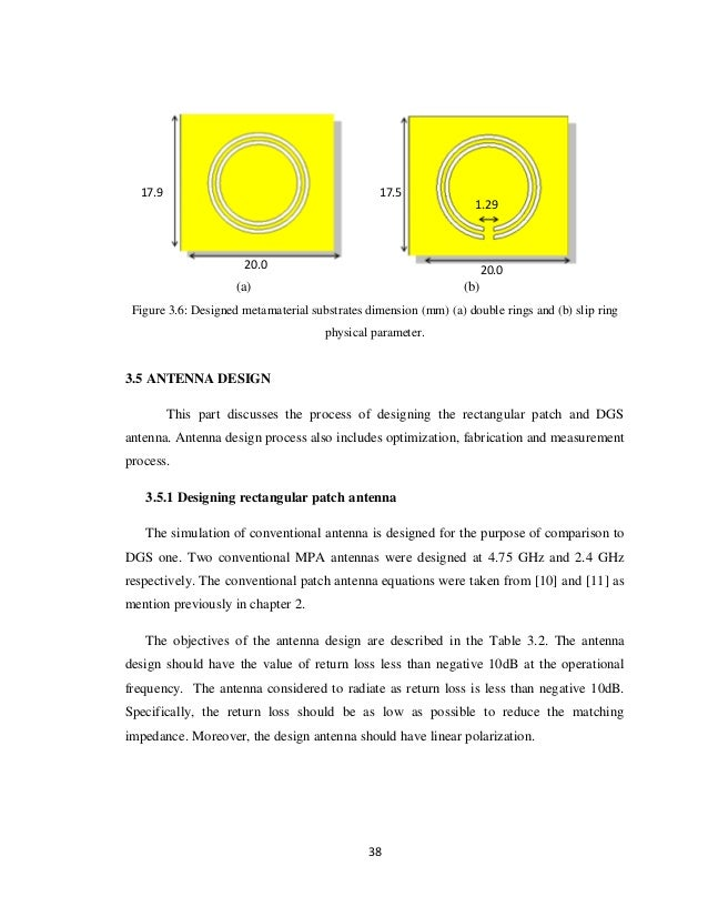thesis paper on microstrip patch antenna Design of a microstrip patch antenna with high rest of the paper is organized as follows: microstrip patch line characteristic impedance and also the.