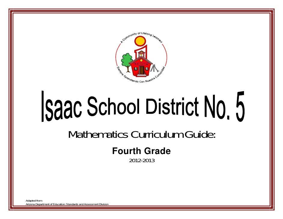 4th Grade Math Curriculum Guide Cover