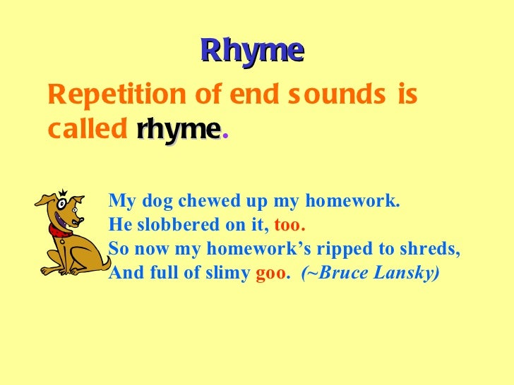 Rhyming Homework