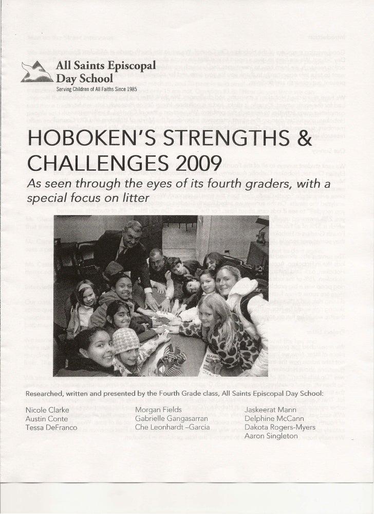 4th Graders Report On Litter Hoboken