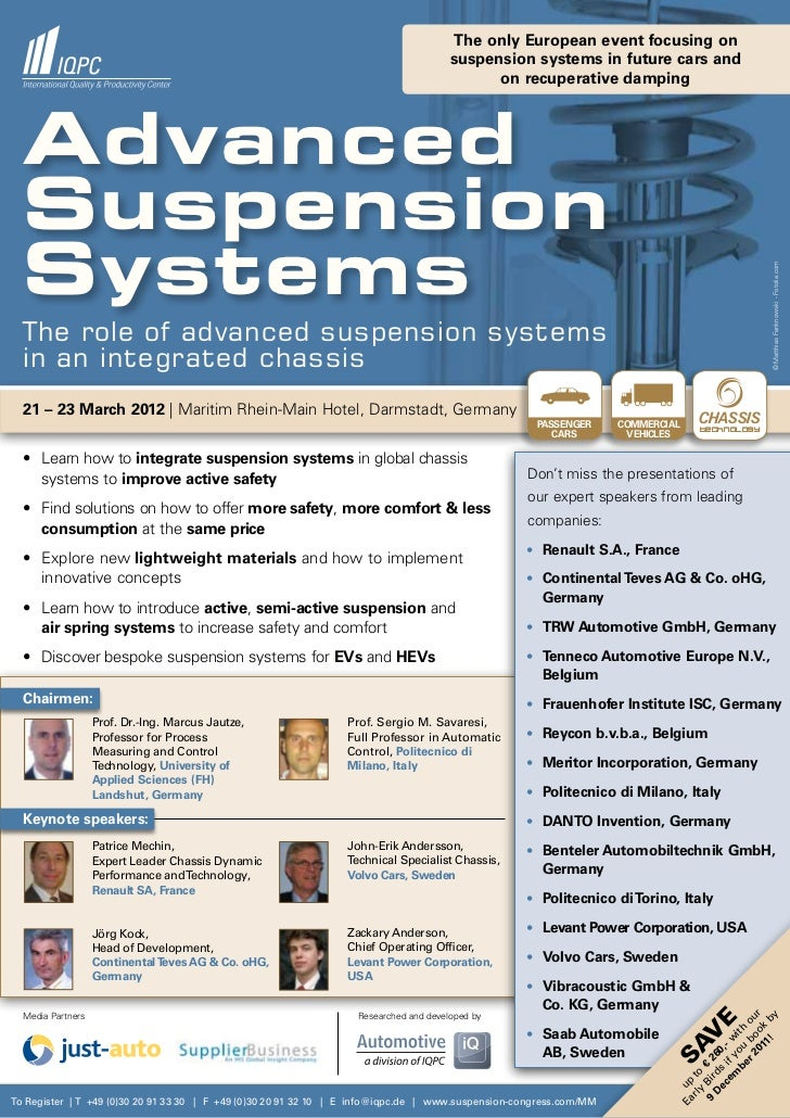4th International Conference Advanced Suspension Systems