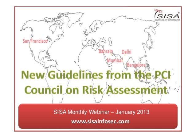 SISA's Webinar on New Guidelines from PCI Council on Risk Assessment