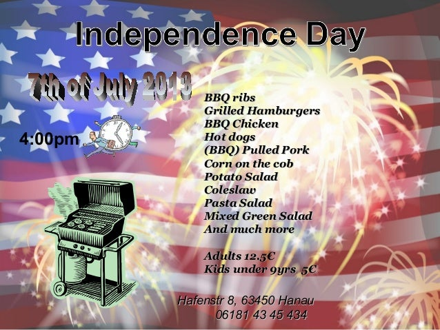 7th of july bbq