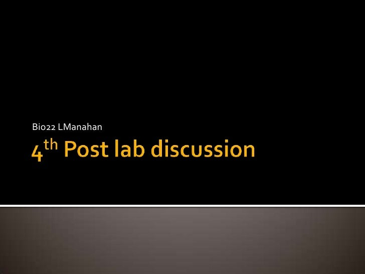post experiment discussion Experiment in the discussion section, in report format bad discussion sample analytical chemistry lab reports john collins.