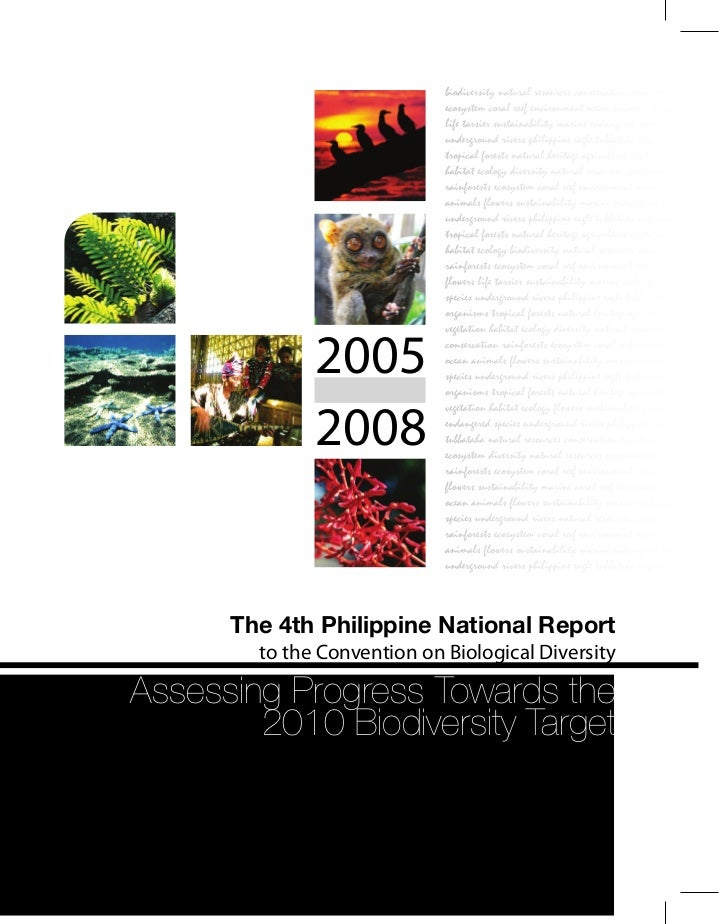 The 4th Philippine National Report to the Convention on Biological Diversity