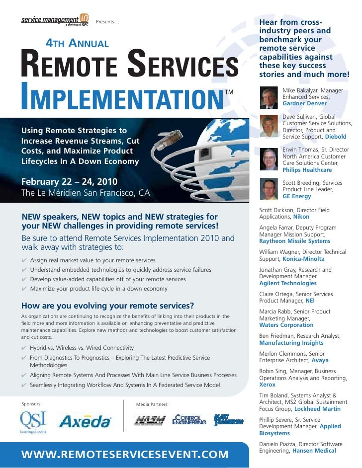 4th Annual Remote Services Implementation Summit