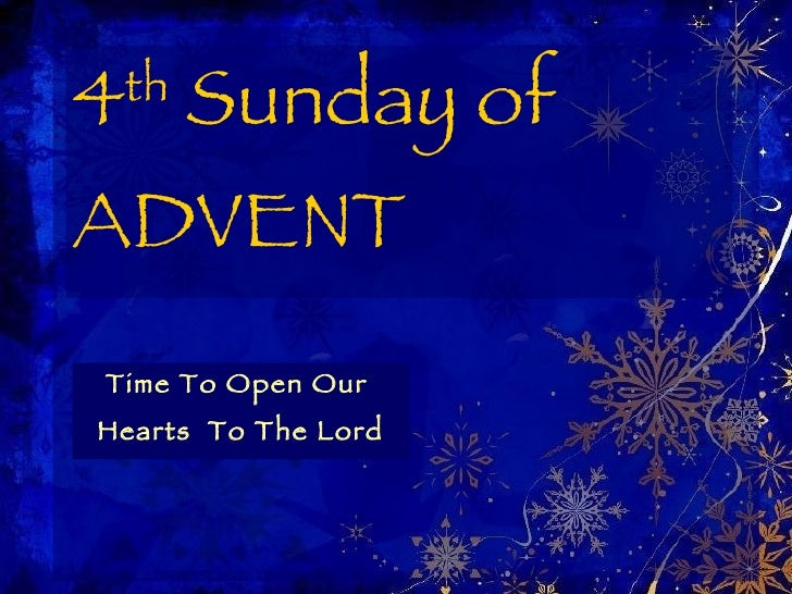 4th Sunday Of Advent Year C