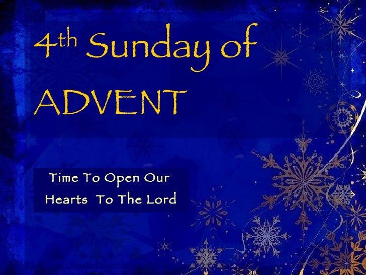 4th Sunday Of Advent Year C