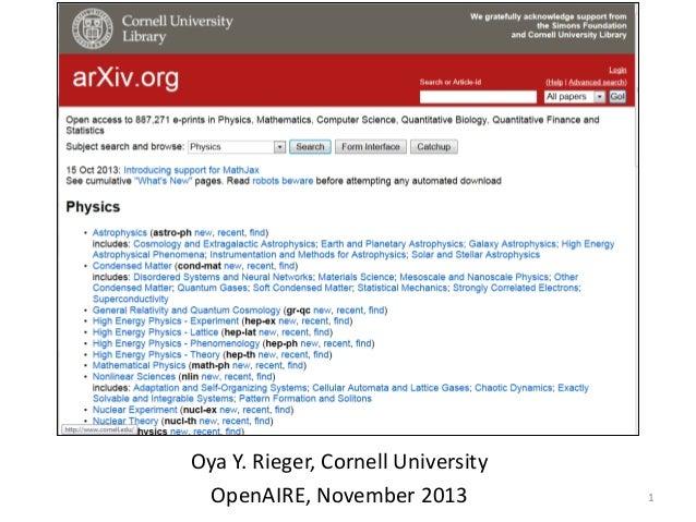 4th OpenAIRE Workshop Oya Rieger