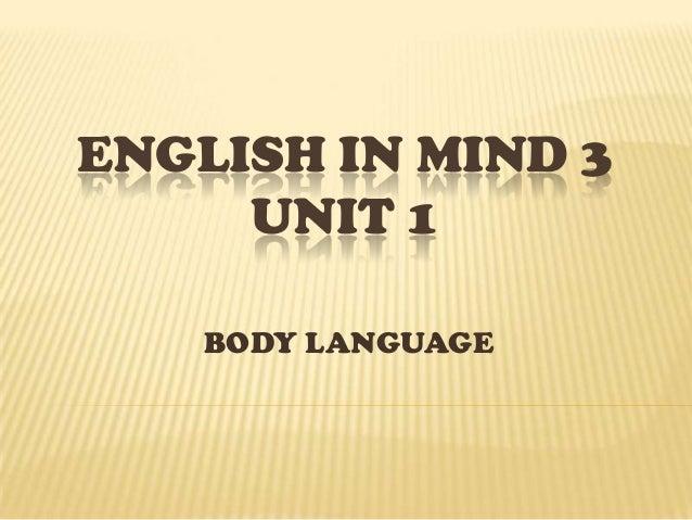 ENGLISH IN MIND 3 VOCABULARY UNIT 1