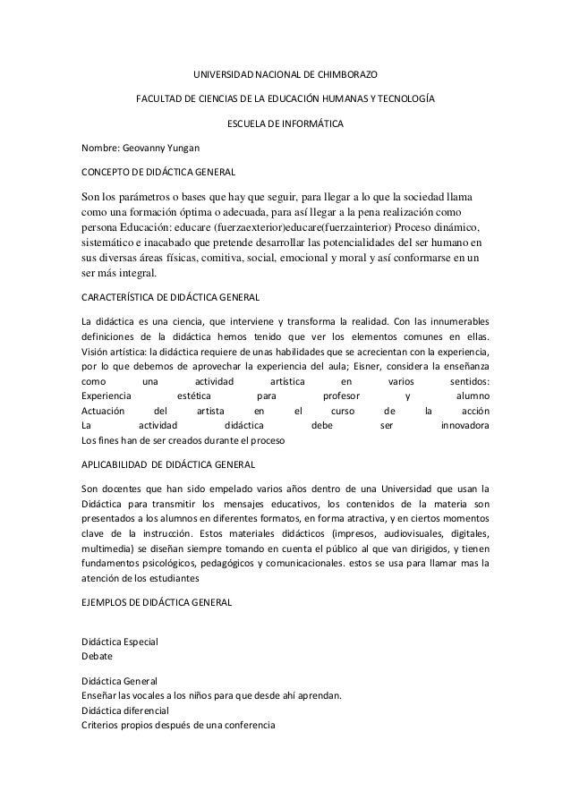 UNIVERSIDAD NACIONAL DE CHIMBORAZO FACULTAD DE CIENCIAS DE LA EDUCACIÓN HUMANAS Y TECNOLOGÍA ESCUELA DE INFORMÁTICA Nombre...