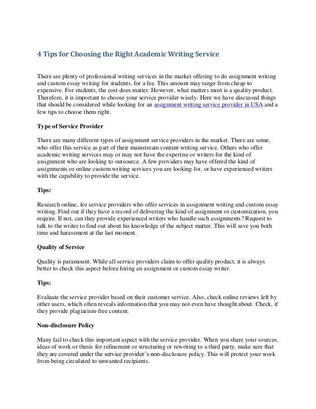 Online academic writing companies