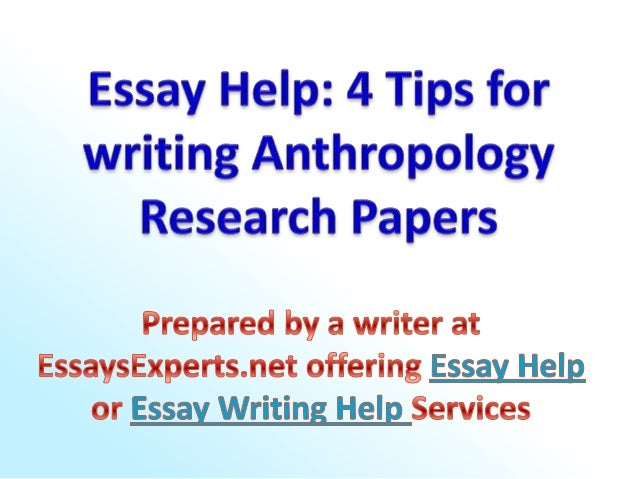 Research paper on anthropology