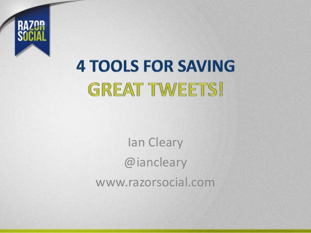 4 tools for saving great tweets