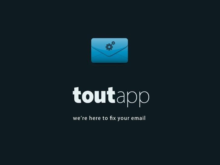 ToutApp Presents at Under the Radar