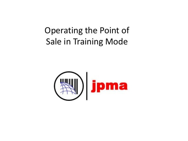 Operating the Point of Sale in Training Mode