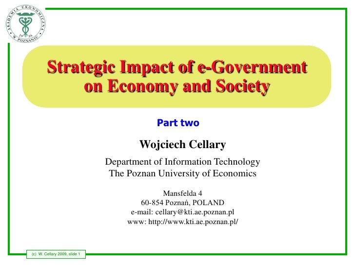 ICEGOV2009 - Tutorial 5 - part 2 - Strategic Impact of e-Governmenton Economy and Society