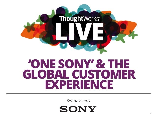 'One sony' & the global customer experience