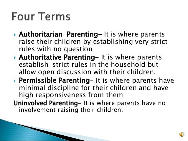 parenting style classification essay Parenting styles and their effect on children behavior education essay print thus the parenting style of china is similar to the authoritarian style.
