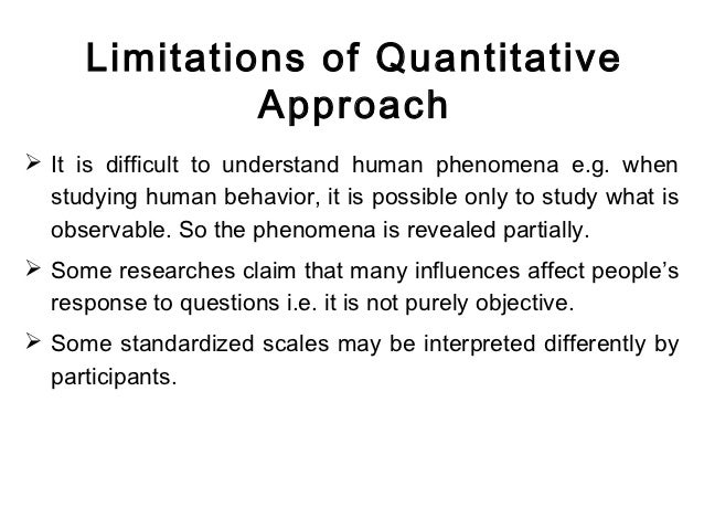 weakness of quantitative research Quantitative content analysis  quantitative content analysis shares many of the general characteristics of quantitative research discussed in chapter 4.