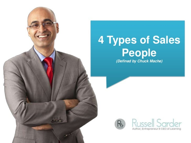 4 Types of Sales     People   (Defined by Chuck Mache)