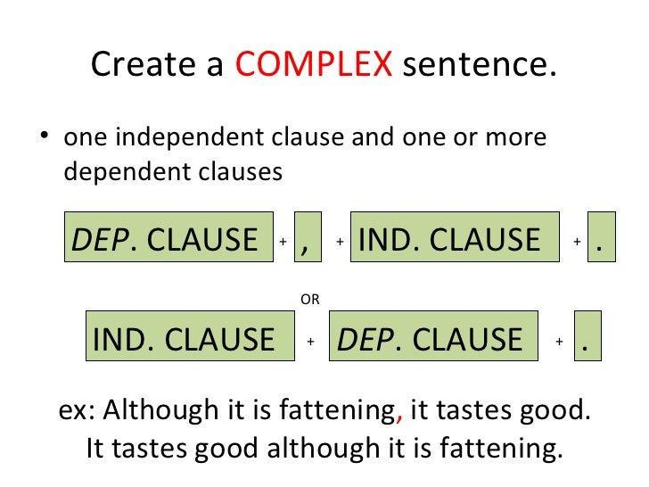 Create a Complex Sentence