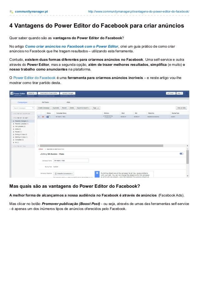 communitymanager.pt http://www.communitymanager.pt/vantagens-do-power-editor-do-facebook/ 4 Vantagens do Power Editor do F...
